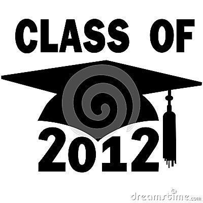 Clase del casquillo 2012 de la graduación de High School secundaria de la universidad