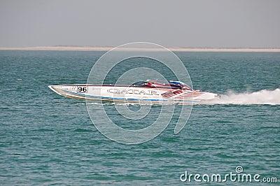 Class 1 racing in Doha Qatar Editorial Stock Photo