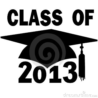 Class of 2013 College High School Graduation Cap