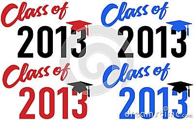 Class of 2013 school graduation date cap