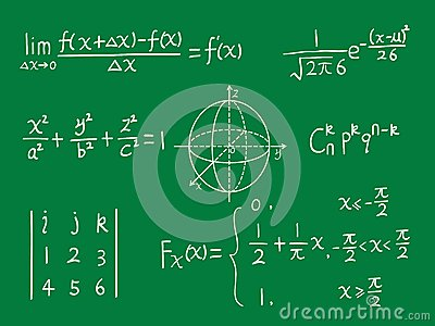 Class blackboard of mathematics