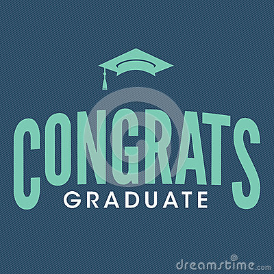 Free Class Of 2017 Congratulations Graduate Typography Stock Image - 89395151