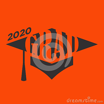 Free Class Of 2020 Congratulations Graduate Typography With Cap Stock Photo - 91425220