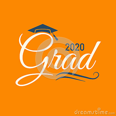 Free Class Of 2020 Congratulations Graduate Typography With Cap And T Stock Photo - 92238350