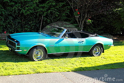 Classic 1968 Chevy Camaro Convertible Rally Sport Editorial Stock Photo
