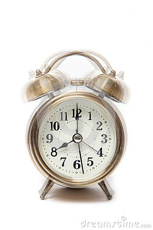 Free Classic Alarm Clock Ringing At Eight O Clock, Isolated Against A Royalty Free Stock Images - 51862659