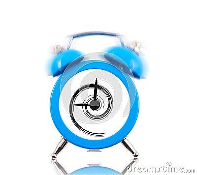 Classic alarm clock with swirl inside