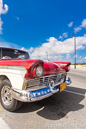 Classic american car in Havana Editorial Photography