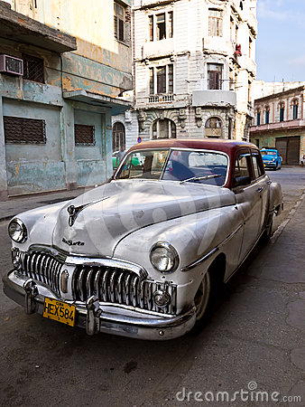 Classic american car in Old Havana Editorial Photography