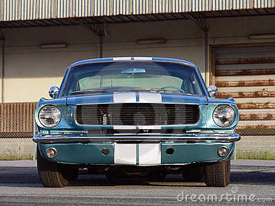Classic American Muscle Car - Metallic Blue