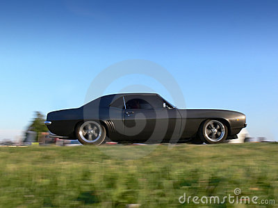 Classic American Muscle Car on the Move
