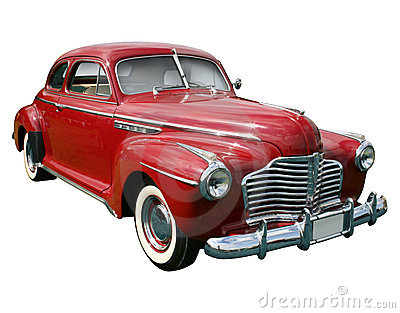Classic american red car Stock Photo