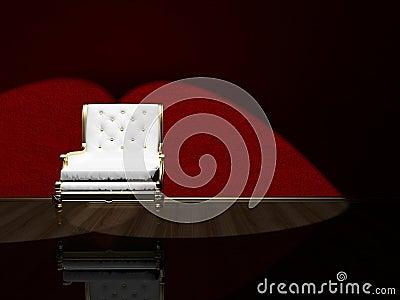Classic armchair floodlighting