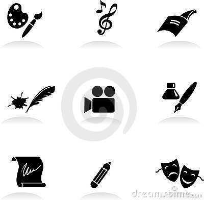 Free Classic Arts Icons Royalty Free Stock Images - 15500389