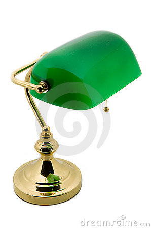 A classic bankers lamp
