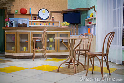 Classic bar counter interior