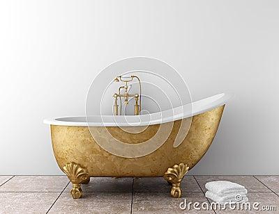 Classic bathroom with old bathtub