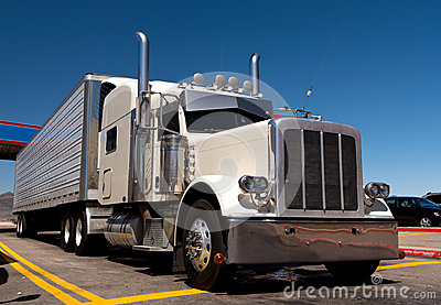 Classic big rig oh the truck stop