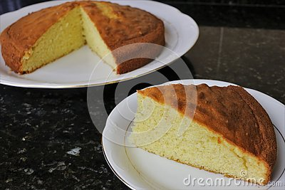 Classic sponge cake sweet traditional