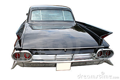 Classic black limousine