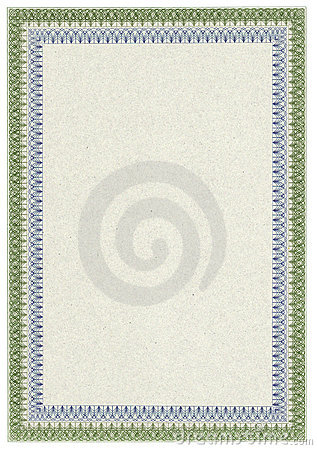 Classic blank diploma or certificate with border