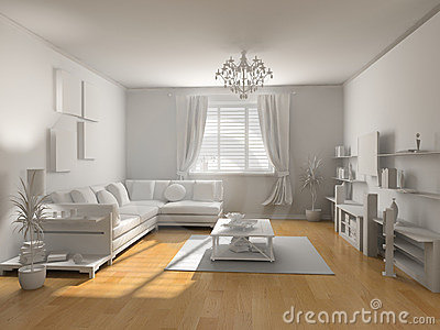 The classic blank interior