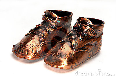Classic Bronze Baby Shoes