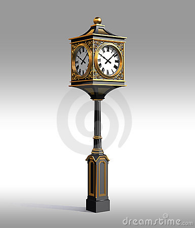 Free Classic Bronze Clock With Workpath Royalty Free Stock Photos - 1794218