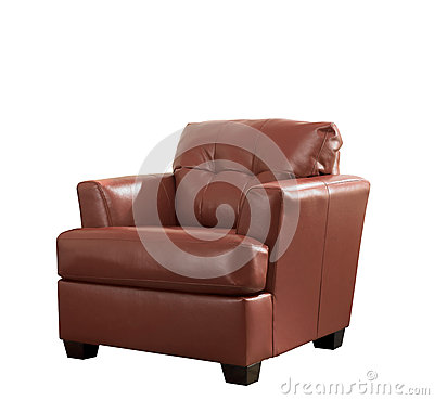 Free Classic Brown Leather Armchair Isolated Stock Photos - 66336703