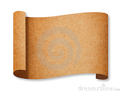 Classic Brown Recycle Paper Curl