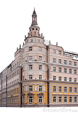 Classic building facade tower