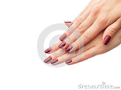 Classic burgundy manicure