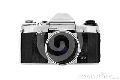 Classic camera on white