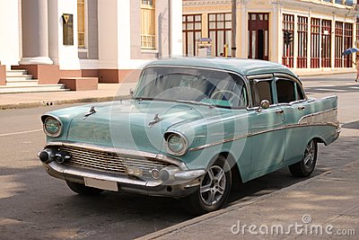 Classic Car in Cienfuegos, Cuba Editorial Stock Photo