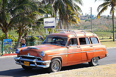 Classic car in Cuba Editorial Image