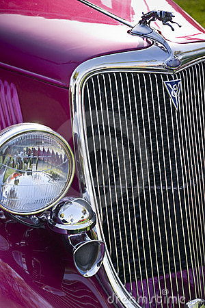 Classic car with Gleaming Grille Work