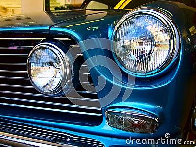Classic car headlamp horizontal