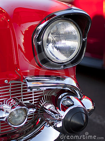 Classic Car Headlight and Grill