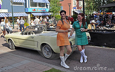 Classic car parade Editorial Photo