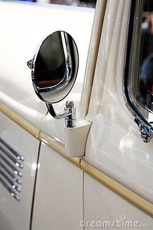 Classic car rear view mirror