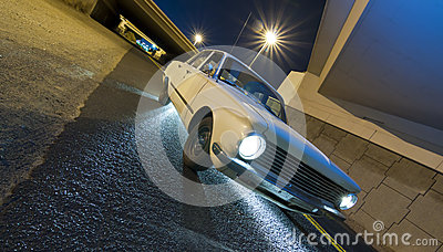 Classic Car on Road