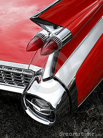 Classic car tail fin and light detail