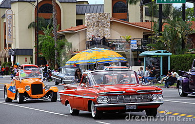 Classic Cars on Parade Editorial Stock Image