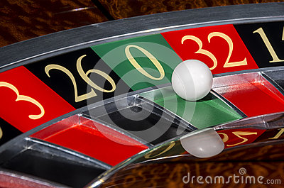 Classic casino roulette wheel with sector zero