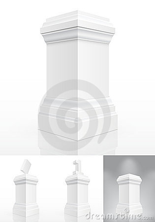 Classic column isolated