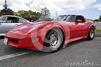 Classic Corvette Editorial Image