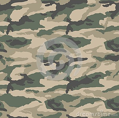 Classic camouflage desert pattern Vector Illustration