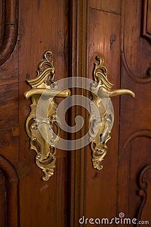 Classic door handle stock images image 9643914 for Baroque door handles