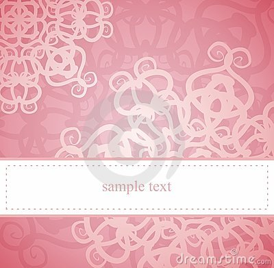 Classic elegant vector card or invitation