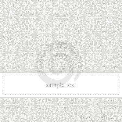 Classic elegant vector grey card or invitation